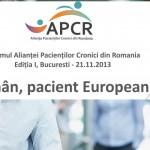 "APCR lansează platforma ""Pacientul român, pacient european"""
