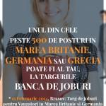 500 de locuri de muncă, disponibile pentru români în străinătate