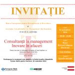 """AMCOR şi BERD organizează conferința """"Consultanță în management – Inovare în afaceri"""""""