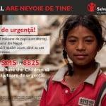 Salvaţi Copiii face un apel pentru sprijinirea victimelor din Nepal