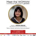 Meet the WOMAN! – Miruna Enache (EY România), speakerul ediţiei din 3 noiembrie