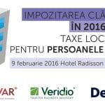 """""""Impozitarea clădirilor în 2016. Taxele locale pentru persoane juridice"""" are loc pe 9 februarie"""