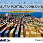 """Seminarul  """"Impactul Noului Cod Vamal asupra Portului Constanța"""" va avea loc pe 29 iulie"""