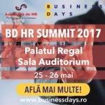 Evenimentul BD HR SUMMIT 2017 va avea loc în perioada 25-26 mai