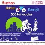"""Auchan, partener în programului """"Biciclist ȋn București"""""""
