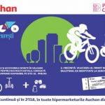 """Auchan este şi în 2018 partener al programului """"Biciclişti în Bucureşti"""""""