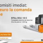 O nouă promoţie: STILL anunţă reduceri pentru transpaleta electrică ECU 15 C