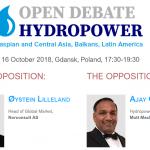 Open Hydropower Debate are loc pe 16 octombrie, în Polonia