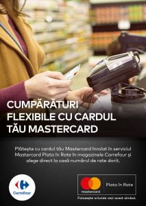 plata in rate carrefour Mastercard