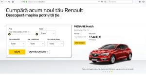 Renault platforma vanzari online