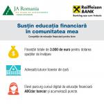 """S-a lansat competiția """"Susțin educația financiară în comunitatea mea""""!"""