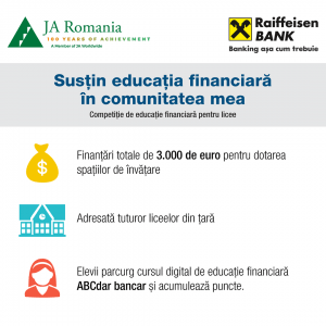 Sustin educatia financiara in comunitatea mea