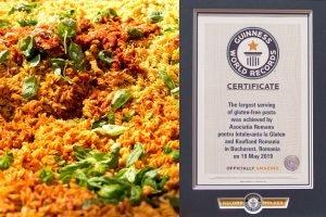 Cea mai mare portie de paste fara gluten - Cartea Recordurilor