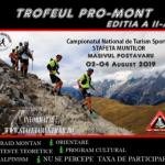 Ștafeta Munților 2019 și Trofeul PRO-Mont vor avea loc pe 2-4 august
