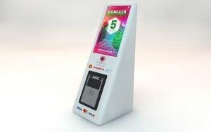 Cutia de donatii KindTap benzinariile Rompetrol