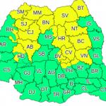 Cod galben de furtuni în România! Ce judeţe sunt afectate?
