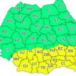 Cod galben de caniculă în România. Judeţele afectate