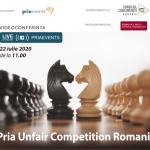 PRIA UNFAIR COMPETITION România 2020 are loc pe 22 iulie