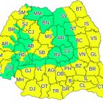 Cod galben de caniculă în România până duminică seara