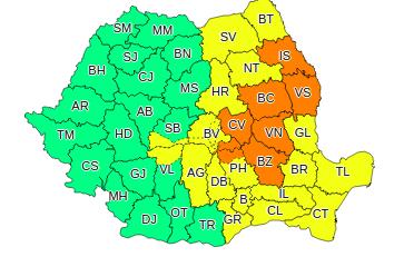 Atentionare meteo de ploi puternice in Romania