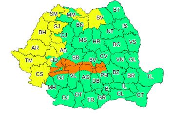 Atentionare meteo de viscol în Romania