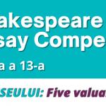 Shakespeare School Essay Competition 2021: Până când se fac înscrierile?