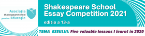 Shakespeare School Essay Competition 2021