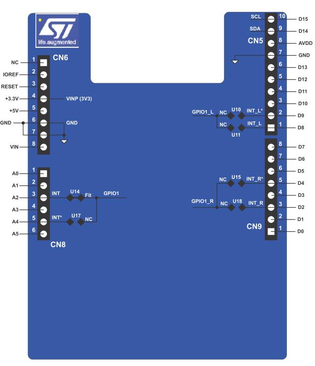 Placa de expansiune X-NUCLEO-53L1A2