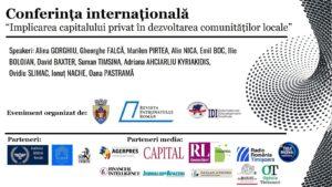 Conferinta Implicarea capitalului privat in dezvoltarea comunitatilor locale