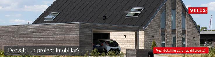 VELUX - Proiect imobiliar, casă cu ferestre acoperiș